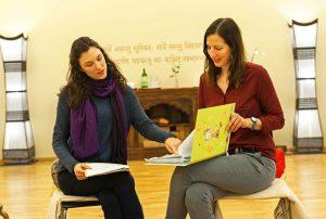 Iris Lasta und Olivia Wollinger beim Seminar zwanghaftem Essen